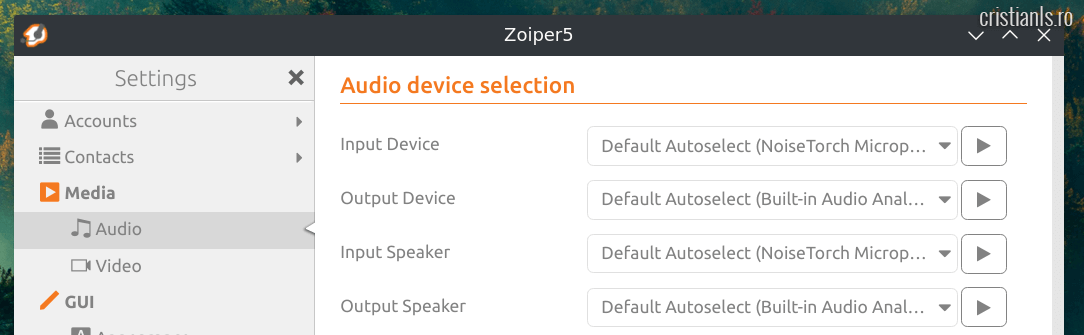 NoiseTorch Microphone