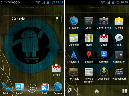 Android 2.3.7 Gingerbread NightlyFourE pe Optimus P500
